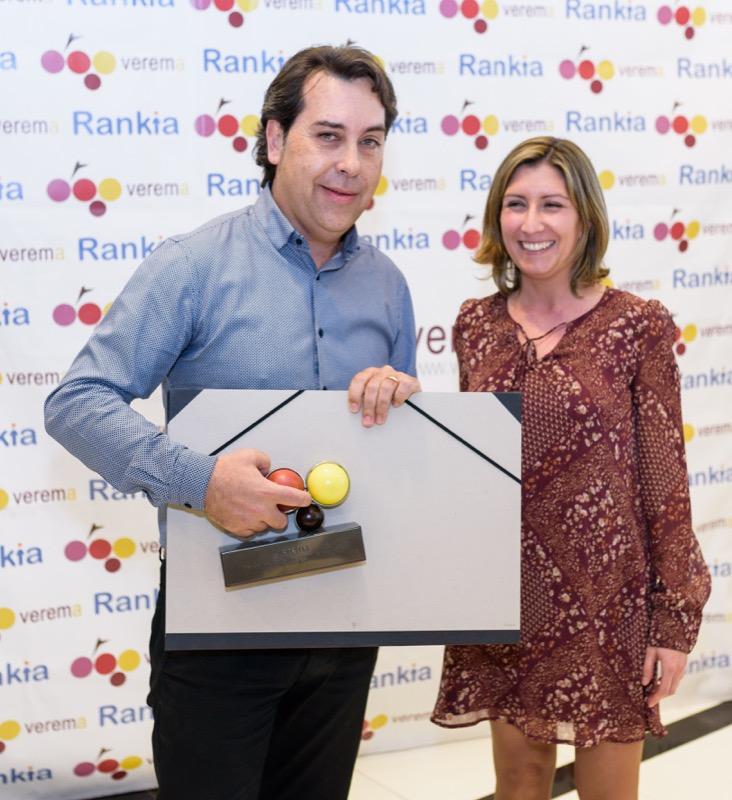 Josep Gallego y Gemma Peyró en la entrega de los premios Verema