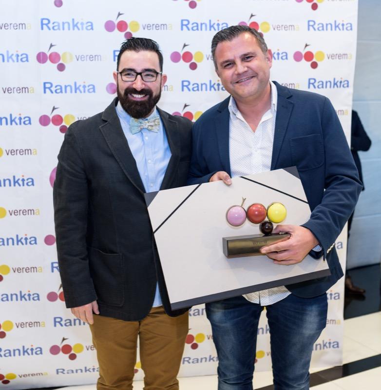Toni Grimalt y Dani Cervera en la entrega de los premios Verema
