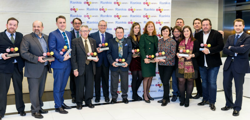 Foto de los premiados en los premios Verema 2016