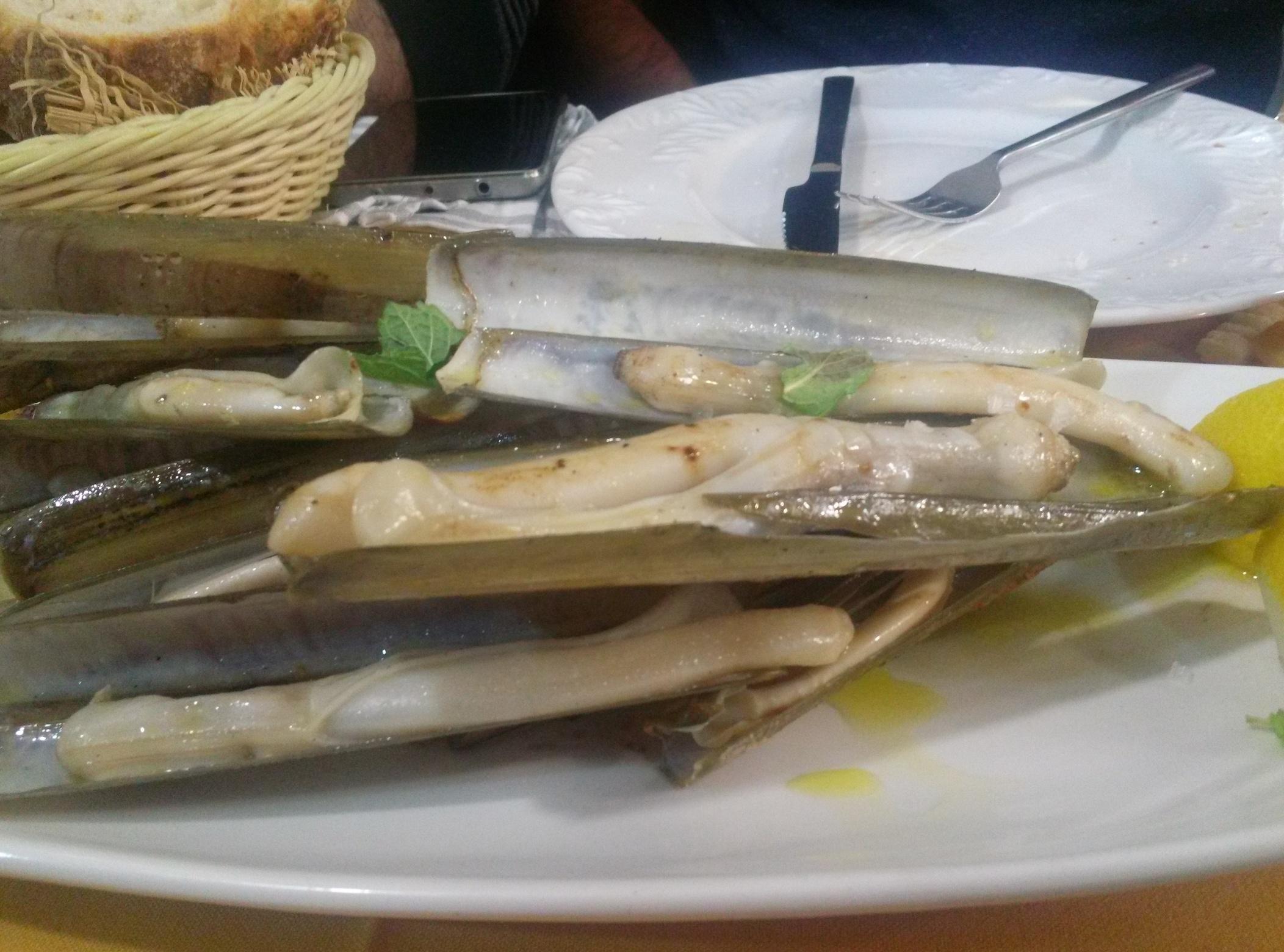 Navajas en O' Peregrino Bizarro, comida 25 febrero, postcata Jerez