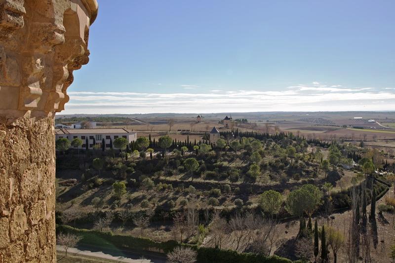 molinos en Belmonte desde el Castillo, Castilla la Mancha