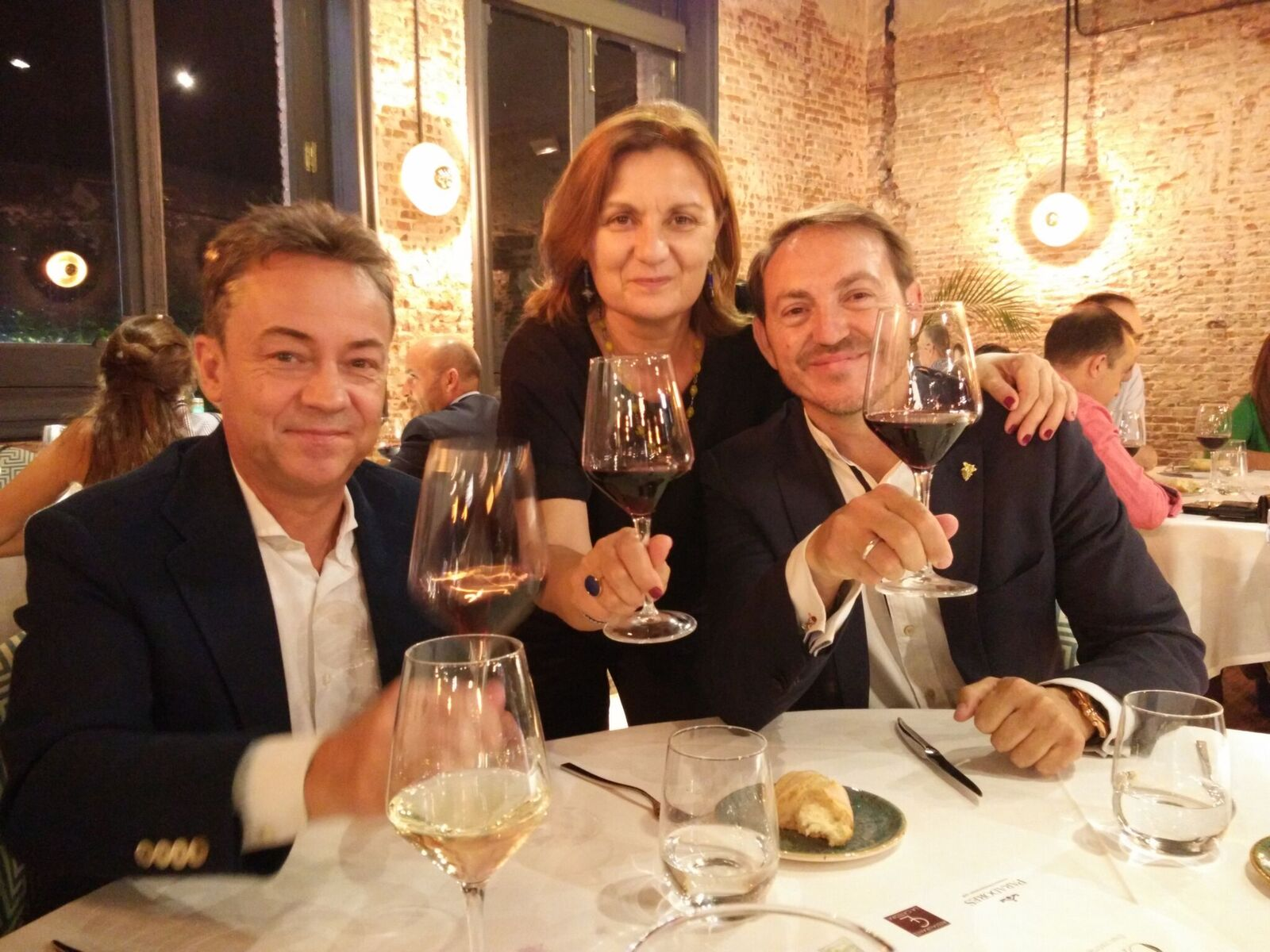 Sergio Sauca, Albertina Torres y Santi Vivanco