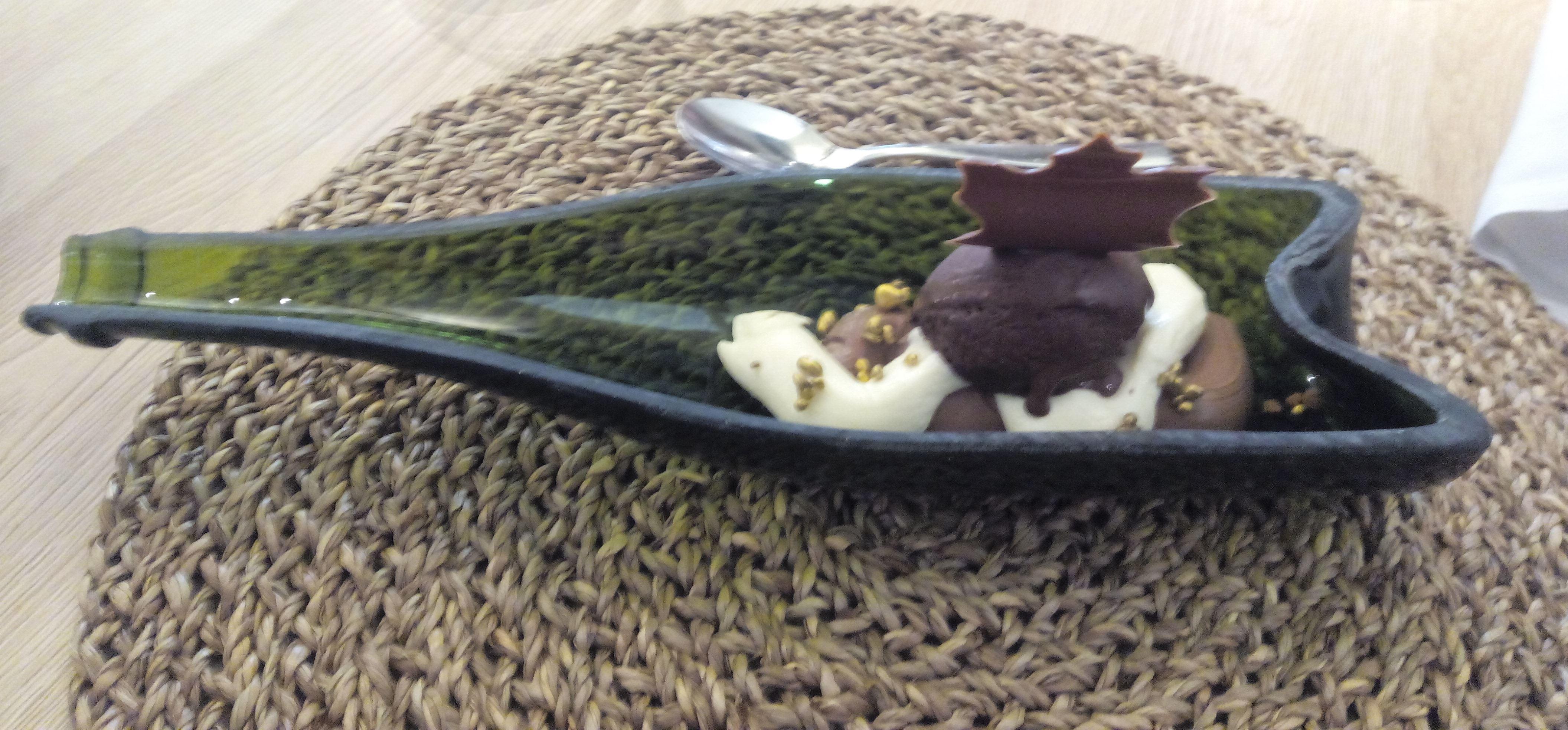 Cal Blay Texturas de chocolate de cal Simón y cava