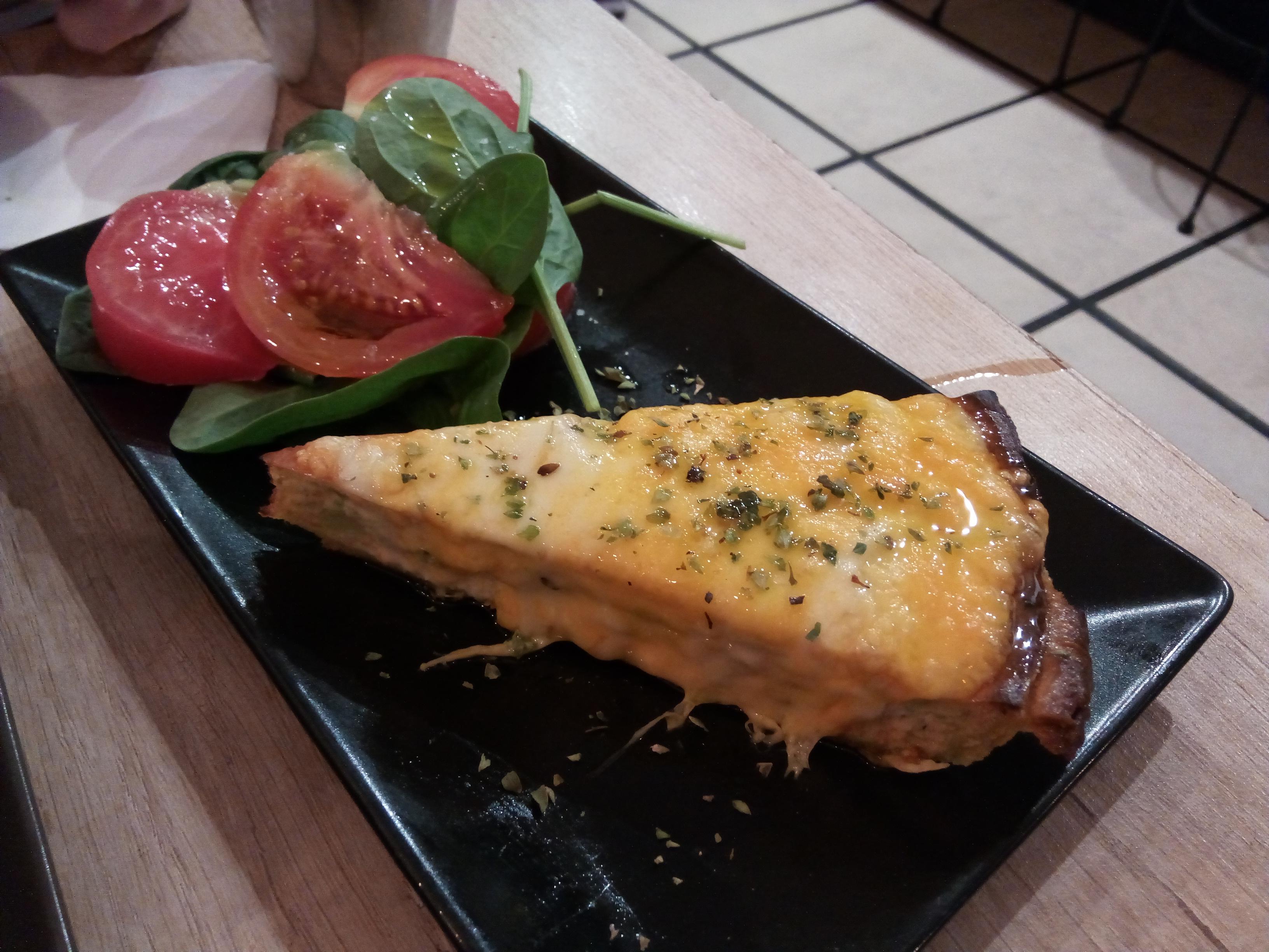 Restaurante Croq&Roll Quiche de salmón