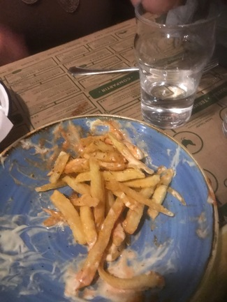 Patatas fritas, duraron poco.