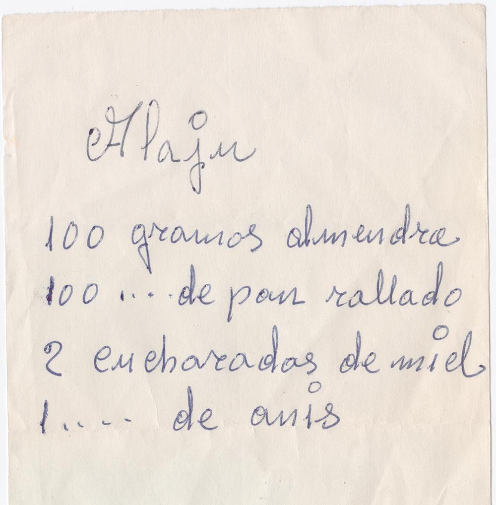 receta de alajú
