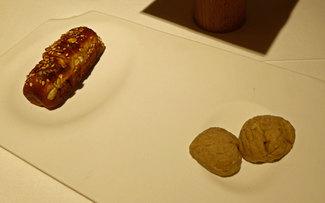 Mantequilla de castaña hecha en casa con pan de brioche.