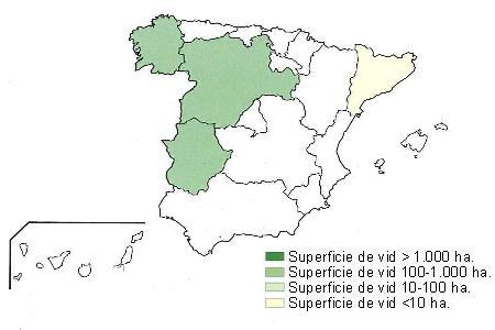 Distribución geográfica Doña Blanca