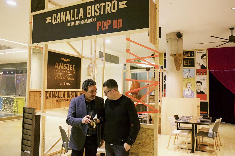 Alejandro y Ricard presentacion Canalla Bistro Pop Up