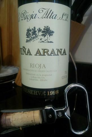 Viña Arana Reserva 1998