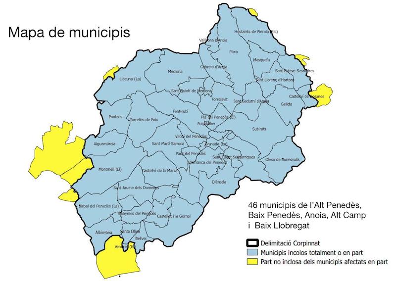 Mapa municipis col