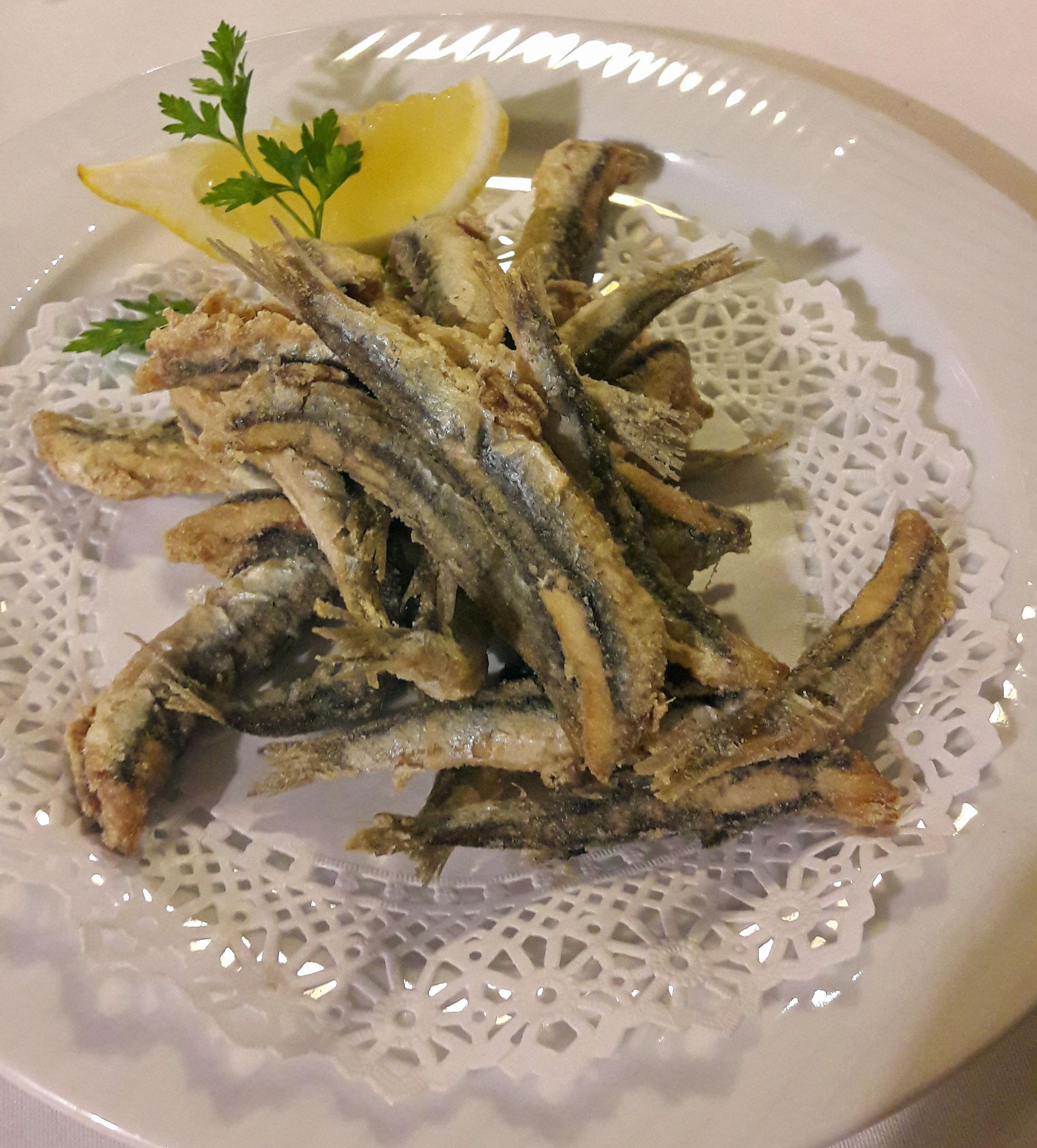 Restaurante La Nansa Fritura de anchoas