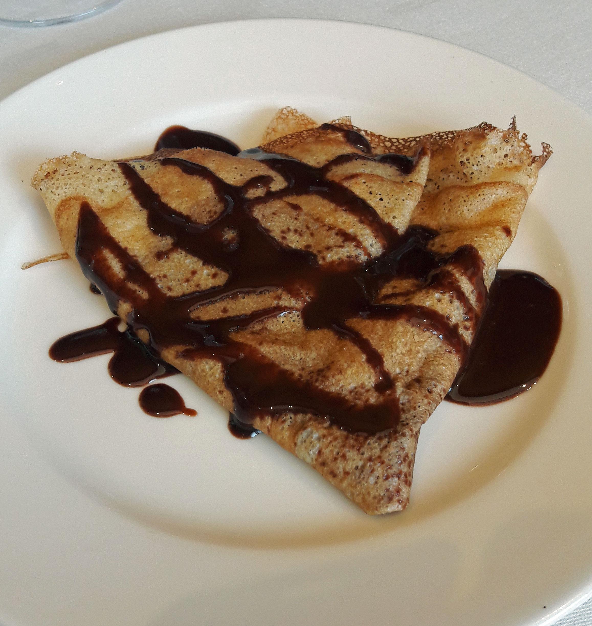 Restaurante La cava d'en Sergi Crèpe de chocolate