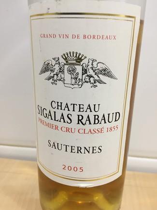 Château Sigalas Rabaud. 1er Cru Classé 2005