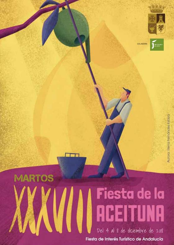 cartel fiesta aceituna