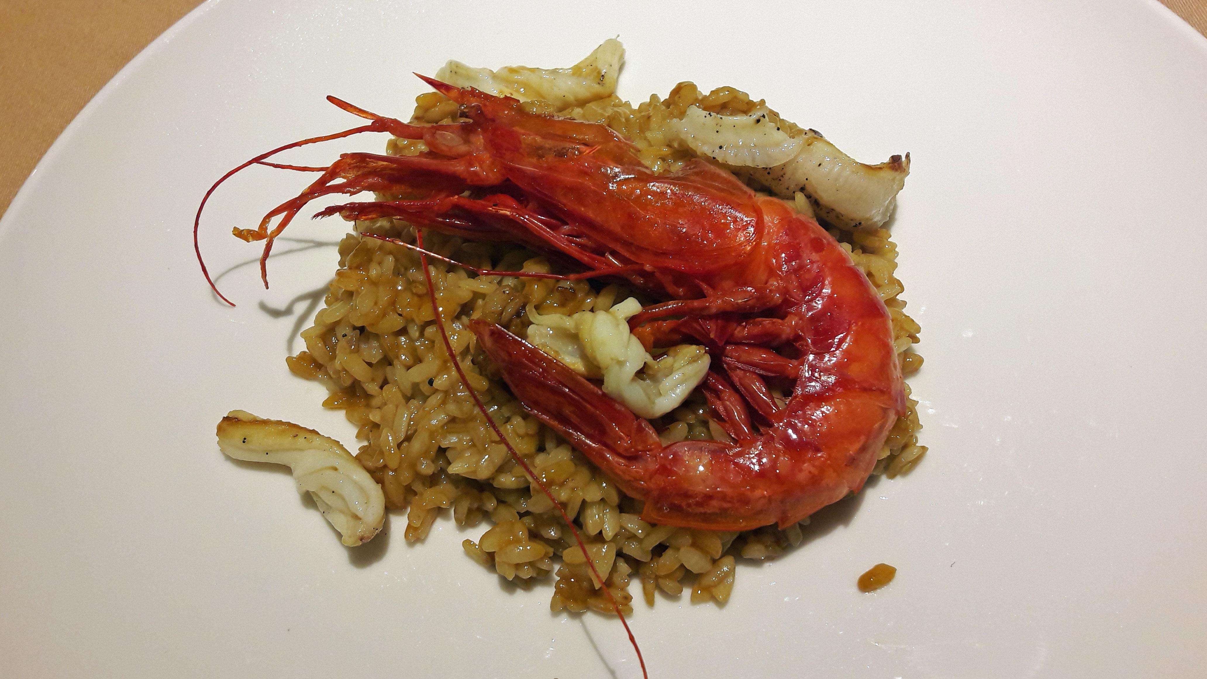Restaurante Topik Arroz con espardeñas i gamba roja