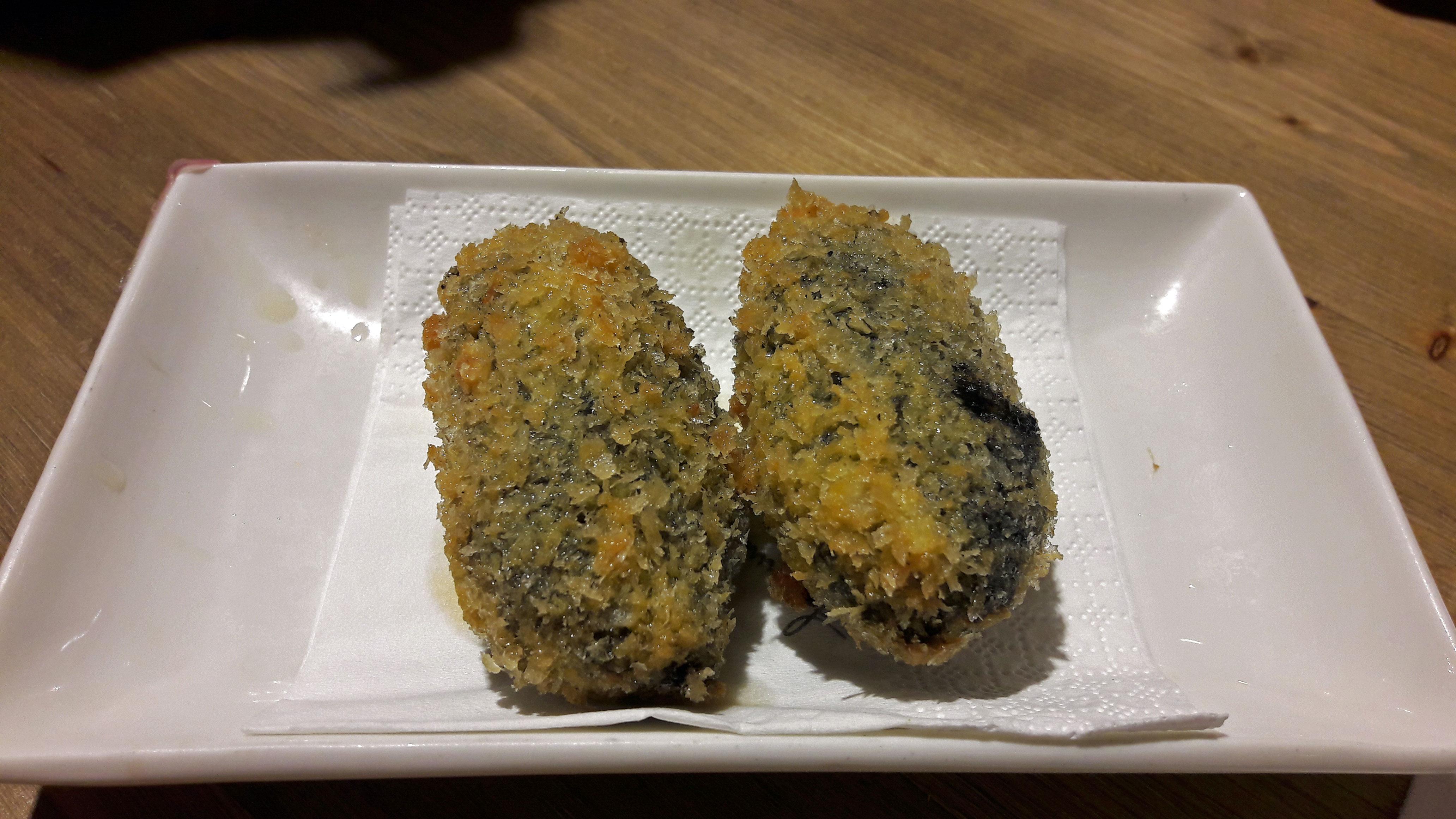 Restaurante en Barcelona Croquetas de calamar roquero