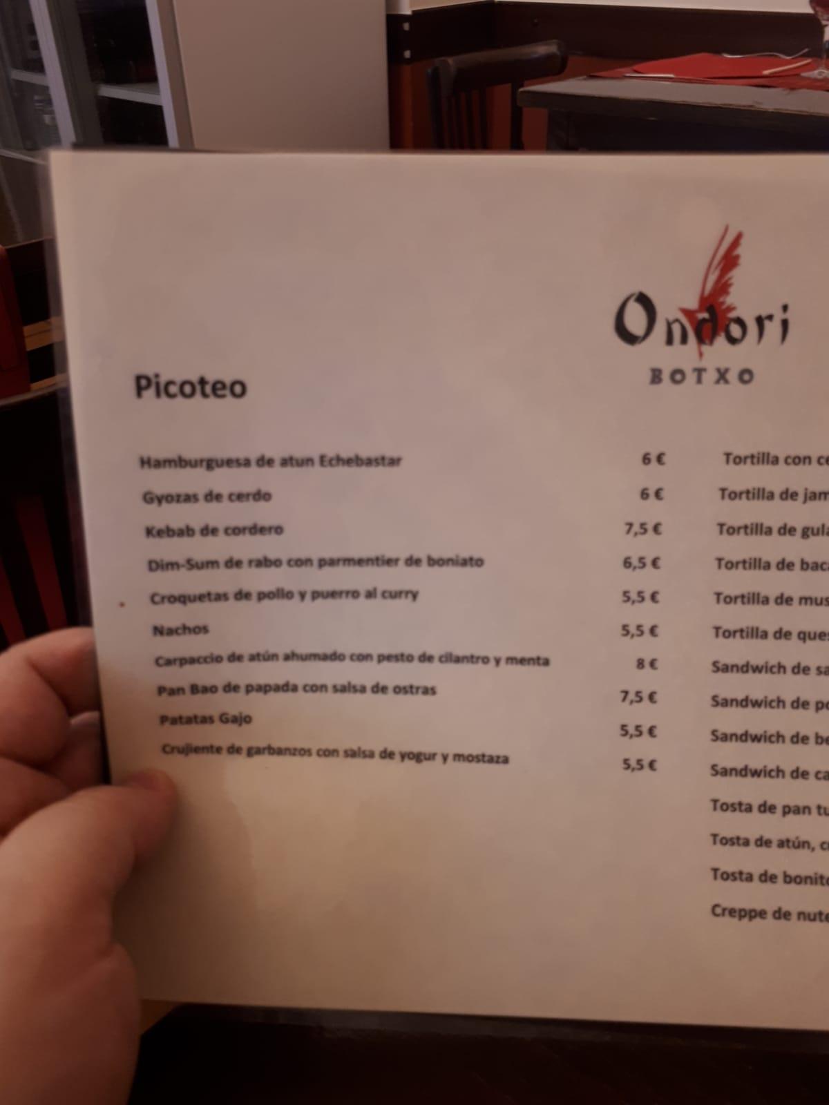Restaurante Ondori Botxo