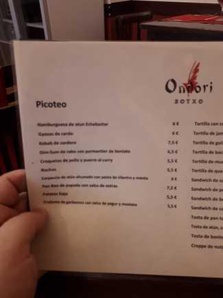 Restaurante Ondori Botxo en Bilbao