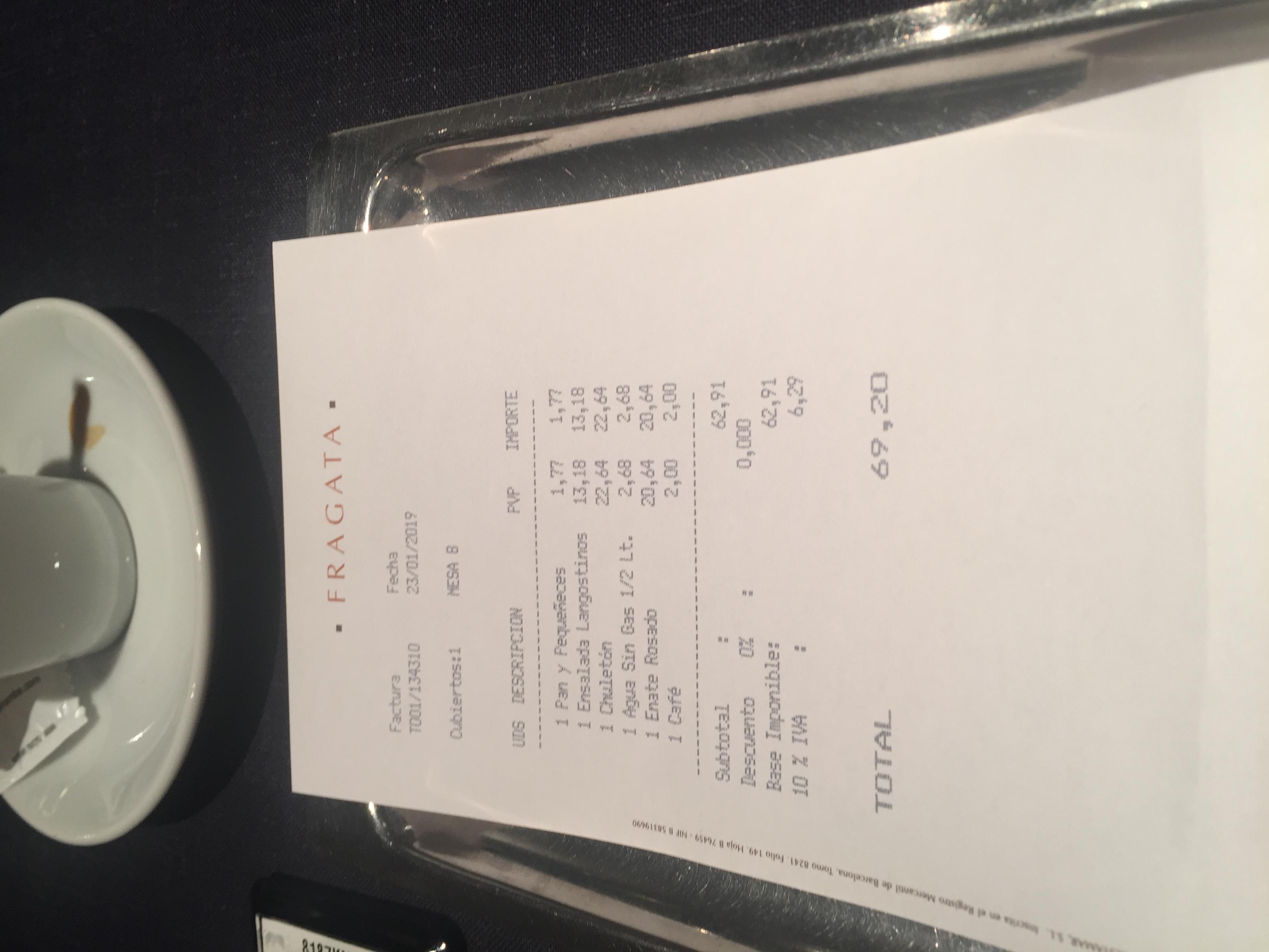 Restaurante Fragata L'add