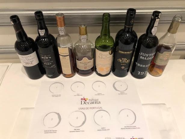 Vinos de la cata Uvas de Portugal