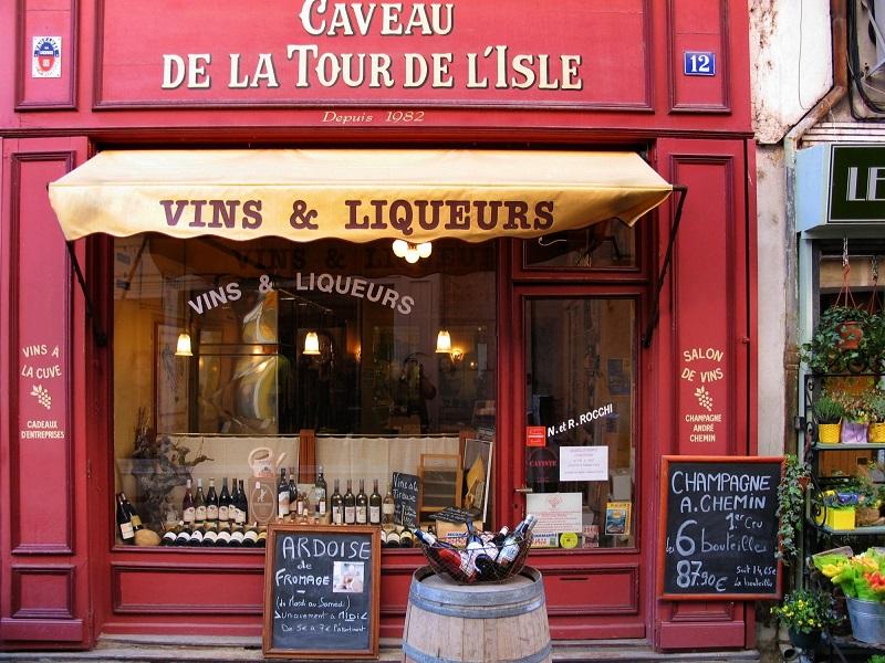 Tienda de Vinos y licores en Francia