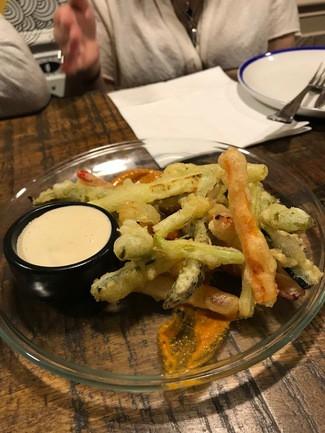 La tempura de verduras.