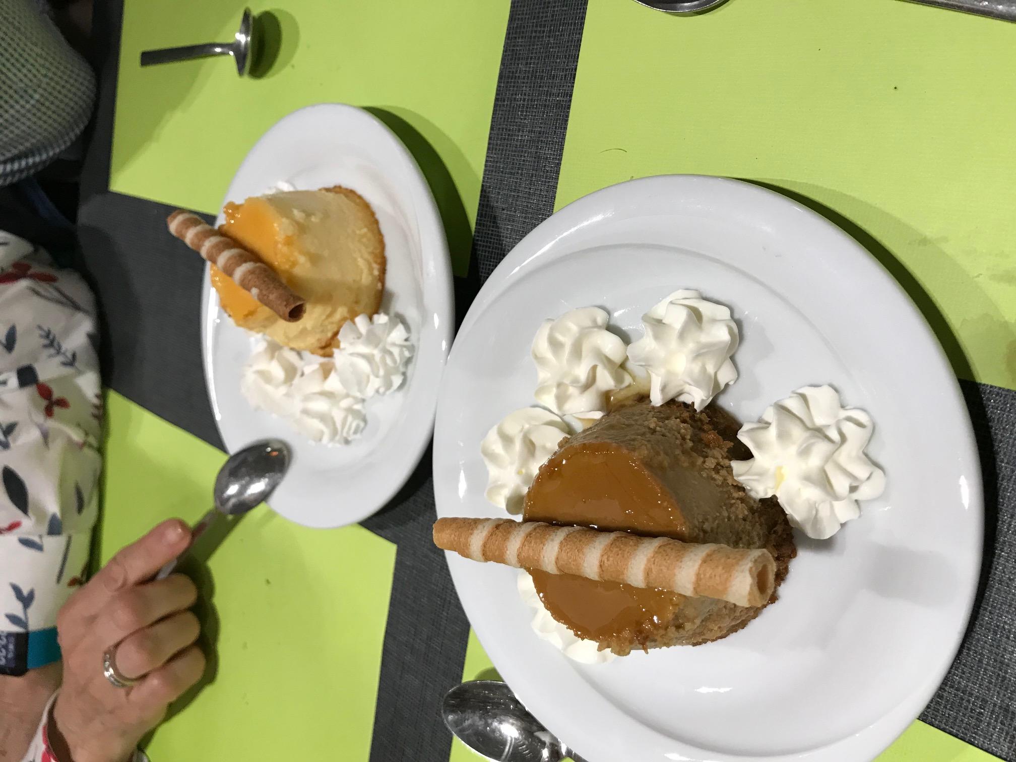 Restaurante La Mossegada Postres.