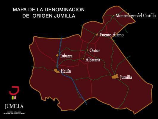 mapa denominación DO Jumilla
