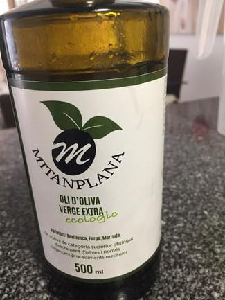 Aceite de oliva virgen extra ECOLÓGICO MITANPLANA:
