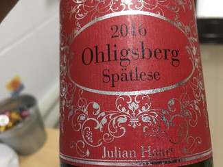 Julian Haart Ohligsberg Spätlese 2016