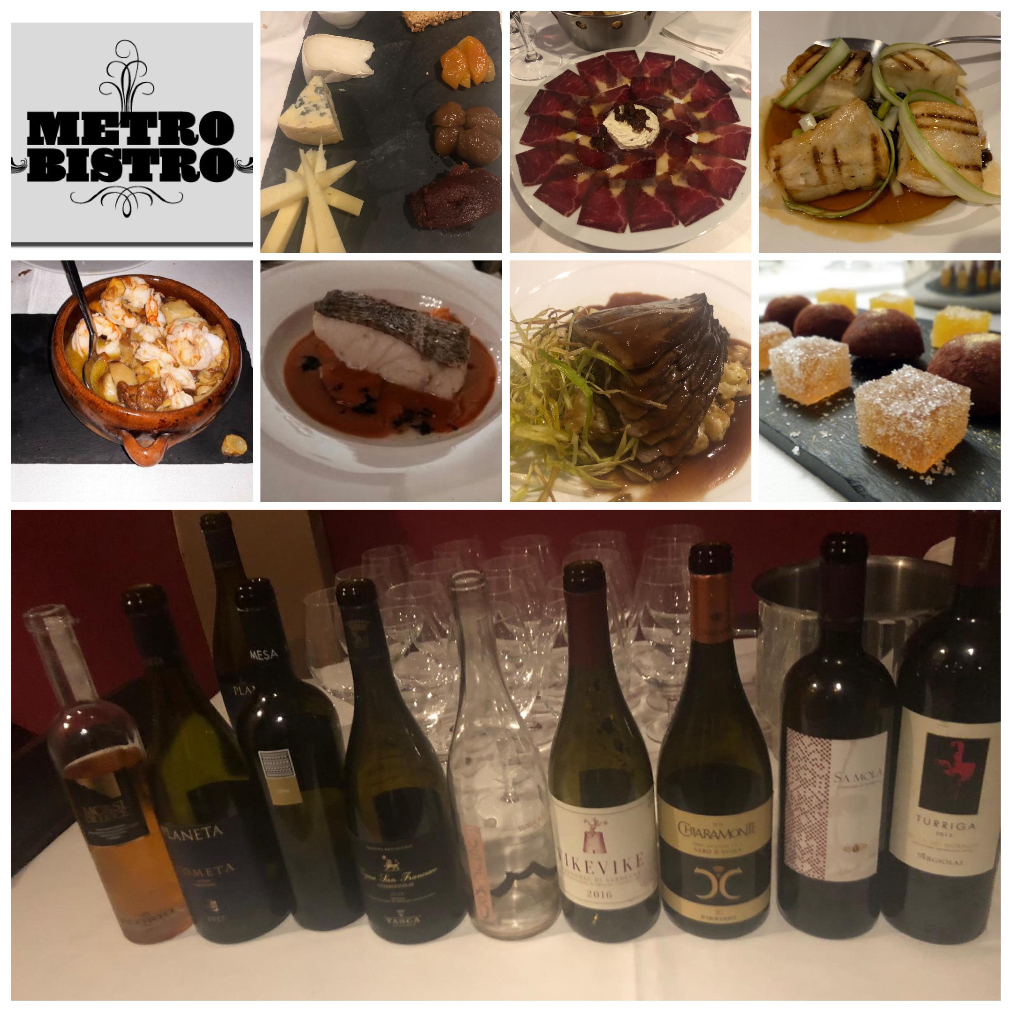 La cena y los vinos