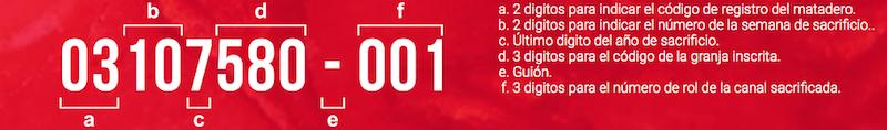 código de certificación