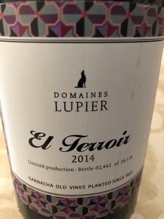 Domaines Lupier El Terroir 2014