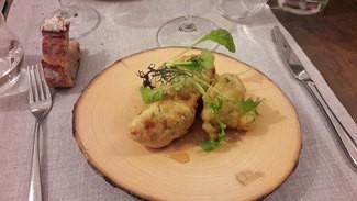 Buñuelos de bacalao con miel Alemany.