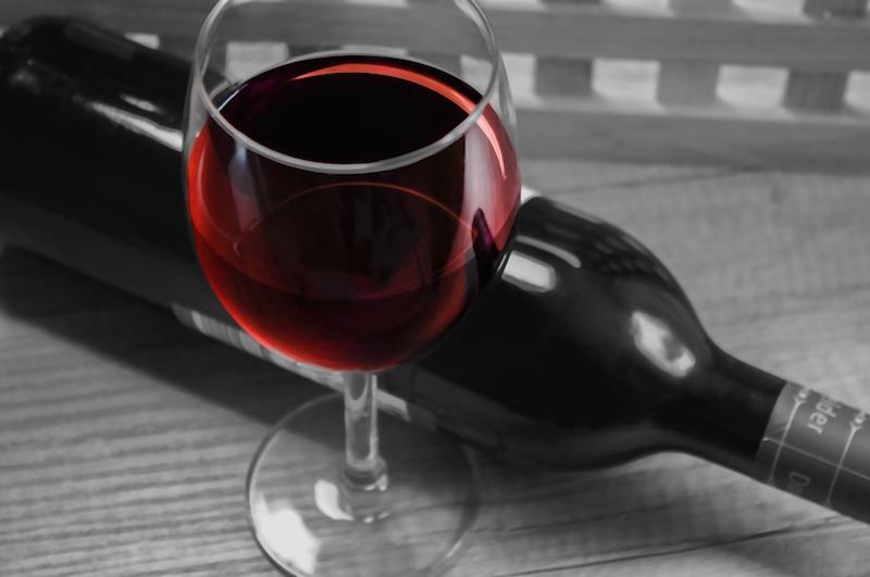 quedada de vino tinto