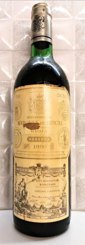 Marqués de Riscal reserva 1990
