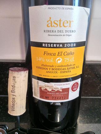 Áster Finca el Caño Reserva 2008, DO Ca Rioja