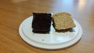 Pan negro de algarrobo y pan de maiz