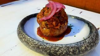 Patata rellena Pull Pork