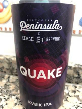 Península & Edge Brewing Quake kveik ipa