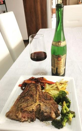 Con el Porterhouse steak de 850 grs