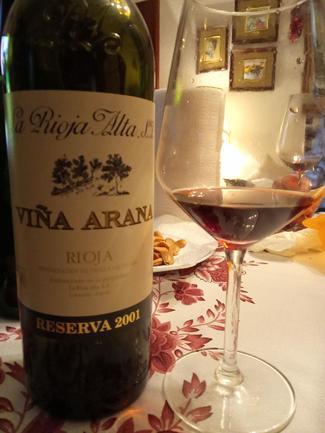 Viña Arana Reserva 2001, DO Ca Rioja