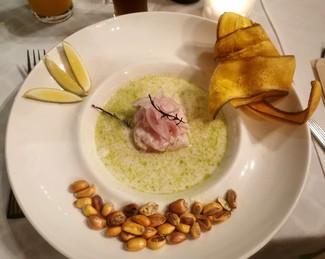Con el ceviche peruano