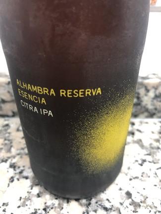 Alhambra reserva esencia citra IPA